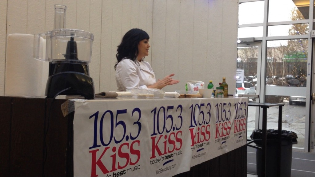 Stephanie Piché hosts a public cooking demonstration.