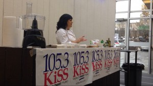Stephanie Piché hosts a public cooking demonstration.