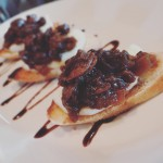 Agrodolce Onion & Mozzarella Crostini