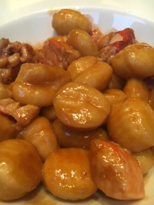 The divine Gnocchi with Lobster!