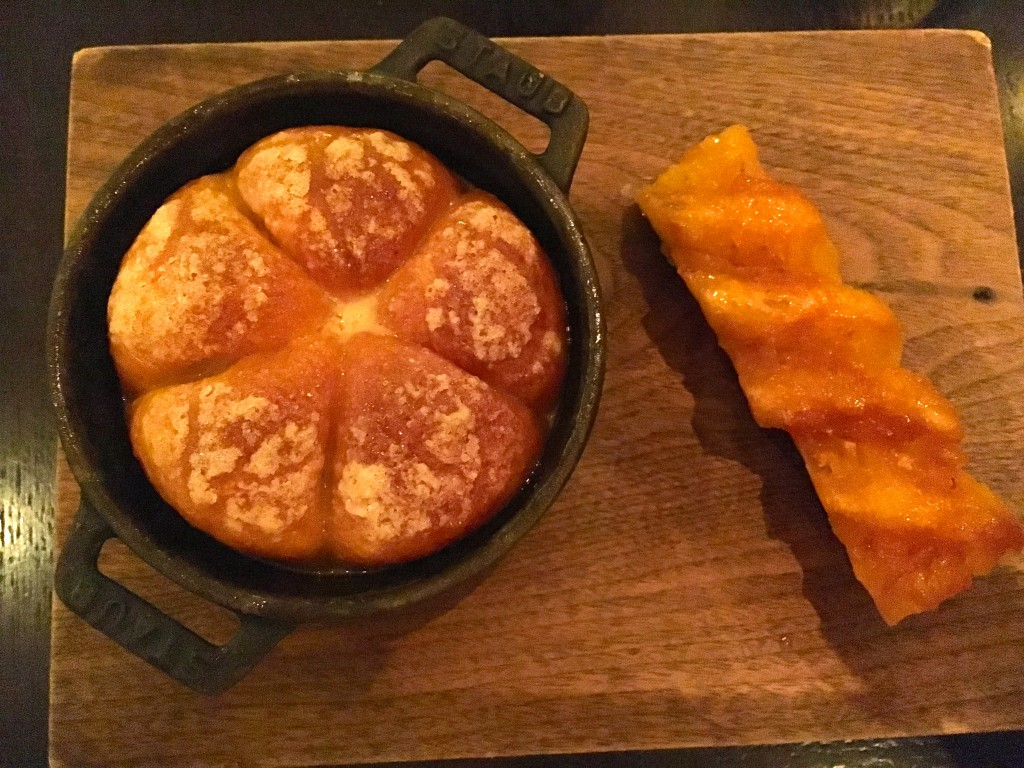 """The infamous """"tipsy cake"""" with spit-roasted pineapple"""