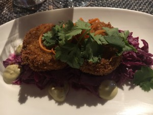 Whitefish Cakes with Fermented Slaw